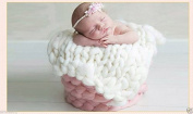 Newborn Knit Throw Blanket Rug Baby Soft Photography Photo Prop Infant Backdrop