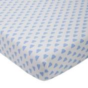 giggle Printed Crib Sheet, Blue