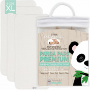 PANDA PADS PREMIUM X-LARGE REVERSIBLE 3-PACK, Bamboo Changing Pad Liners. NO-SLIP 3-Layer Design, Ultra Soft & Absorbent, Waterproof, Machine Wash & Dry, Antibacterial & Hypoallergenic. Great Gift!