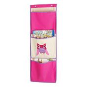 Whitmor Kid's Canvas Over-the-Door Wall Organiser-Pink Owl