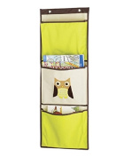 Whitmor Kid's Canvas Over-the-Door Wall Organiser-Brown Owl