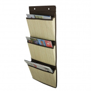 Wall Magazine Rack Storage Bag Organiser Level 3 Storage Gadgets For Home/ Bathroom/ Office 68.5 × 29CM
