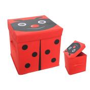 ARTSMAX Children Storage Box With Lid Oxford Drawer Storage File Cube Storage 30 × 30 × 30CM
