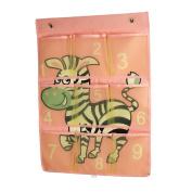 ARTSMAX Children Storage Bag Organiser Wall Hanging Storage 6 Pockets Gadgets For Home / Bathroom / Office 80 × 44CM
