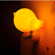 WDA Creative 3 LEDs Cartoon Bird Night Lights Smart Light Sensor Control Plug 0.6W Power Supply Plug-in Wall Night Lamps For Kid's Baby Room Bedside Corridor Indoor and Christmas Festival