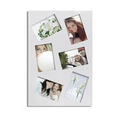 Adeco White Wood 6-photo Collage Picture Frame