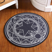 Infant Shining Bedroom Carpet Cartoon Pink Sakura Magic Circle Children Round Play Carpet Computer Chair Hanging Basket Puzzle Mats