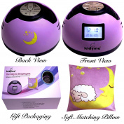 Sound Machine Baby Pillow Gift Set by Kidyme™ 3-in-1 Gift Set - 8 Relaxing Soothing Nature Song Sound Effects With Clock Timer & Decorative Moon Face Pillow for Babies, Kids & Nursing Moms