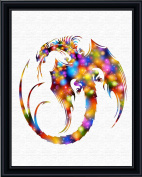 Aprilskys Workshop 13X19 Dragon Vinyl Decal Monster Canvas Art Print Wall Decor Home Décor Room Deco Kids Room Girls Room Boys Room Teen Room Inspirational Wall Art Gift A514