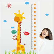 Lonsbo® Kids Height Chart Wall Sticker Home Decor Cartoon Giraffe Height Ruler Home Decoration Room Decals Wall Art Sticker wallpaper