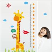 Lonsbo® Kids Height Chart Wall Sticker Home Decor Cartoon Giraffe Height Ruler Home Decoration Room Decals Wall Art Sticker wallpaper