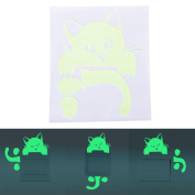 1 Pcs Cat Luminous Switch Wall Sticker Cartoon Kid Bedroom Home Decor by Crqes