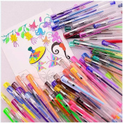 Mydio 48 pack Pen Set of Multicolor Gel Pens-For Scrapbooking, Colouring, Doodling, Sketching and Craft- Includes Metallic, pastels, Neon, Glitter, Neon Colour Pens