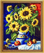 Diy oil painting, paint by number kit- Sunflower watch 16*50cm .