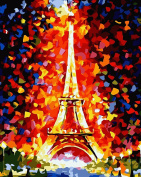 Bestwoohome Eiffel Tower DIY Digital Oil Painting Paint by Number Kit Wall Decoration