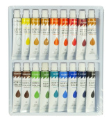 Zen Art Supply 18 Colour Acrylic Paint Set 12 ml Tubes Artist Draw Painting Rainbow Pigment