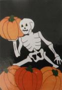 Halloween Flag with Skeleton & Pumpkins Nylon 70cm X 100cm