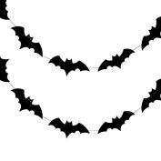 Quasimoon Halloween Bats Paper Garland Banner (3m) by PaperLanternStore