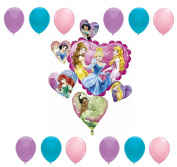 American Balloon Company - Disney Princess Balloon Bouquet - 13 Pieces