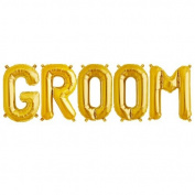 C-Spin 41cm GROOM Gold Foil Letter Balloon 41cm Groomsmen Bride to be Bridal Shower Wedding Decorations Mylar Foil