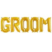C-Spin 41cm GROOM Gold Foil Letter Balloon 41cm Groomsmen Bride to be Bridal Shower Wedding Decorations Mylar Foil