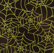 Halloween Tablecloth Green Spider Web