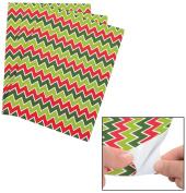 Christmas Chevron Adhesive Sheets (12 Pack) 23cm x 30cm . Self-adhesive foam.