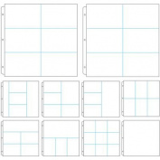 Couture Creations 3-Ring Page Protectors 30cm x 30cm 10/Pkg-Assorted Layouts