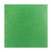 Coredinations 12x12 Glitter Silk Cardstock - Green Sheen - 2 Sheets