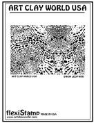 FlexiStamps Texture Sheet Snow Leopard Positive Design - 1 pc.