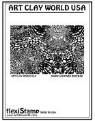 FlexiStamps Texture Sheet Snow Leopard Inverse Design - 1 pc.