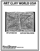 FlexiStamps Texture Sheet South Seas Tribal Inverse Design - 1 pc.