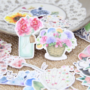 30pcs Beautiful Watercolour Flower Scrapbooking Stickers Floral DIY Craft Decrative Sticker