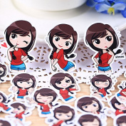40pcs Self-made Cute Girl Lady Scrapbooking Stickers DIY Photo Albums Deco Diary Deco