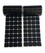 2.5cm Black Square Straps 168 Pairs Self Adhestive Hook And Loop Strips With Waterproof Sticky Glue Fastener