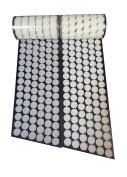 1.6cm Diameter 700 Pcs(350 Pairs) White Round Dot Coin Straps Self Adhestive Hook And Loop Strips With Waterproof Sticky Glue Fastener
