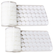 250 Pair of 20mm Diameter Nylon Fabric Sticky Back Round Coins Hook and Loop Self Adhesive Fastener Dots Tapes White