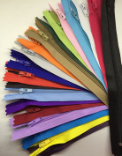 WKXFJJWZC 60Pcs 40cm (16Inch) Nylon Coil Zippers Tailor Sewer Craft Crafter's & FGDQRS