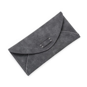 LZG Women's PU Leather Long Wallet Bifold Purse Envelope Clutch Handbag Card Holder