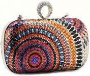 Thenice Women's Colourful Ring Rhinestone Wedding Sequins Evening Clutch Bags