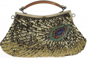 Thenice Women's Retro peacock Beaded Wedding Sequin Evening Bags