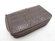 PELGIO Genuine Crocodile Skin Leather Zip Around Key Holders Wallet Coins Purse