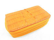 PELGIO Genuine Crocodile Skin Leather Zip Around Key Holders Wallet Coins Purse