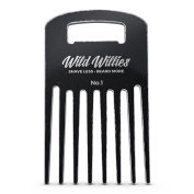 Wild Willies Vintage Beard Comb - We wanted to take the Beard Comb to the next level, so we decided to take it up a notch and make ours out of 6061 Billet Aluminium!
