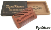 BushKlawz 4 Sided Pocket Beard, Moustache, Hair, and Side Burns Comb
