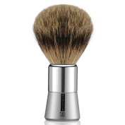 "100% Pure Badger Shaving Brush with Metal Chrome Handle & Safety Razor Handmade Deluxe ""Long Loft"" Engineered to Deliver the Best Shave of Your Life"