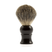 Fendrihan Genuine 100% Pure Badger Shaving Brush with Black Handle for Personal and Professional Shaving