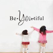 Hatop Be You Tiful Wall Art Removable Home Vinyl Window Wall Stickers Decal Decor