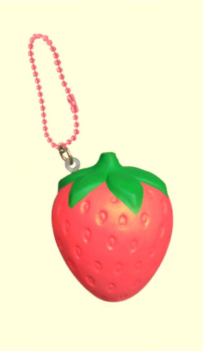 Red Squishy Ball : I LOVE RED STRAWBERRY Mini Squishy Ball Chain iBloom Japan. Shipping is Free eBay