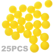 BCP 25 Pieces Yellow Colour Rounds Refill Compatible Bullet Balls Pack For Nerf Rival Zeus MXV-1200 Apollo XV-700 Blaster